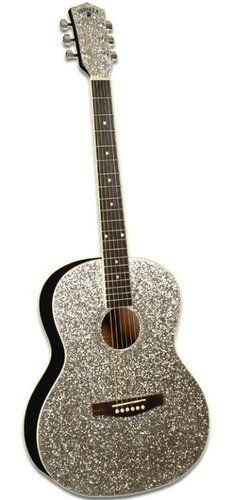 Taylor Swift Style Glitter Sparkle Acoustic Guitar