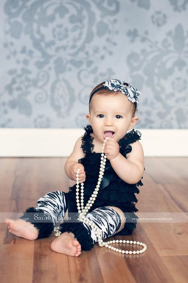 3 Piece Set - Black Vintage Lace Petti Romper  Leg Warmers and Headband Set- Newborn - Baby Girl  Outfit - Toddler Outfit - Birthday