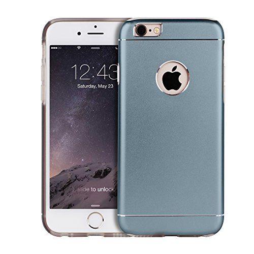Premium Apple iPhone Aluminum Schutzhülle.Back Case mit Silikon Inlay und Logo-Ausschnitt in grau.