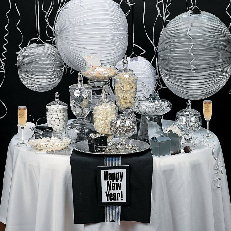 Elegant New Year's Eve Candy Buffet - OrientalTrading.com pretty idea for the wedding