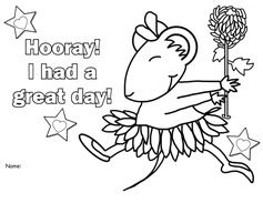 chrysanthemum activities free hooray i had a great day coloring page
