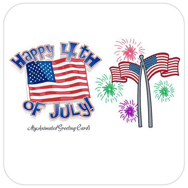 Happy 4th July Independence Day | myanimatedgreetingcards.com #4thJuly #IndependenceDay