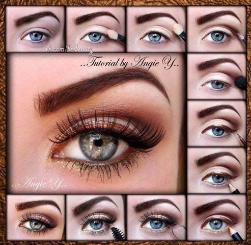 Bronze winged makeup tutorial