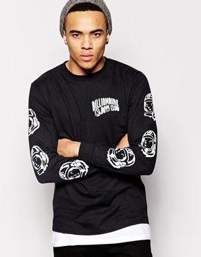 Billionaire Boys Club Long Sleeve T-Shirt With Helmet Print