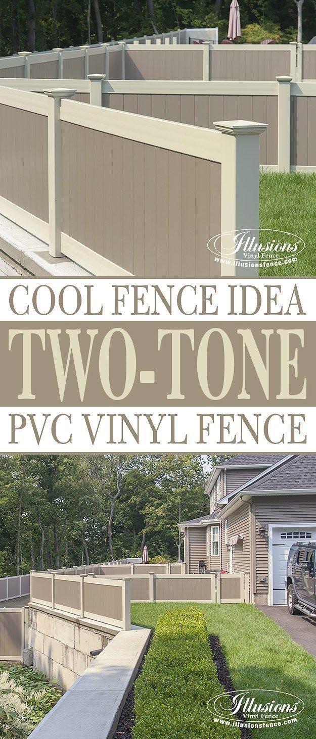 26 best fences gates images on pinterest garden gate privacy two color illusions pvc vinyl fence idea baanklon Gallery