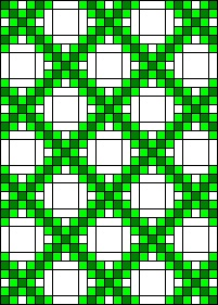 Double Irish Chain Quilt. I would like to make this for St. Patricks Day.