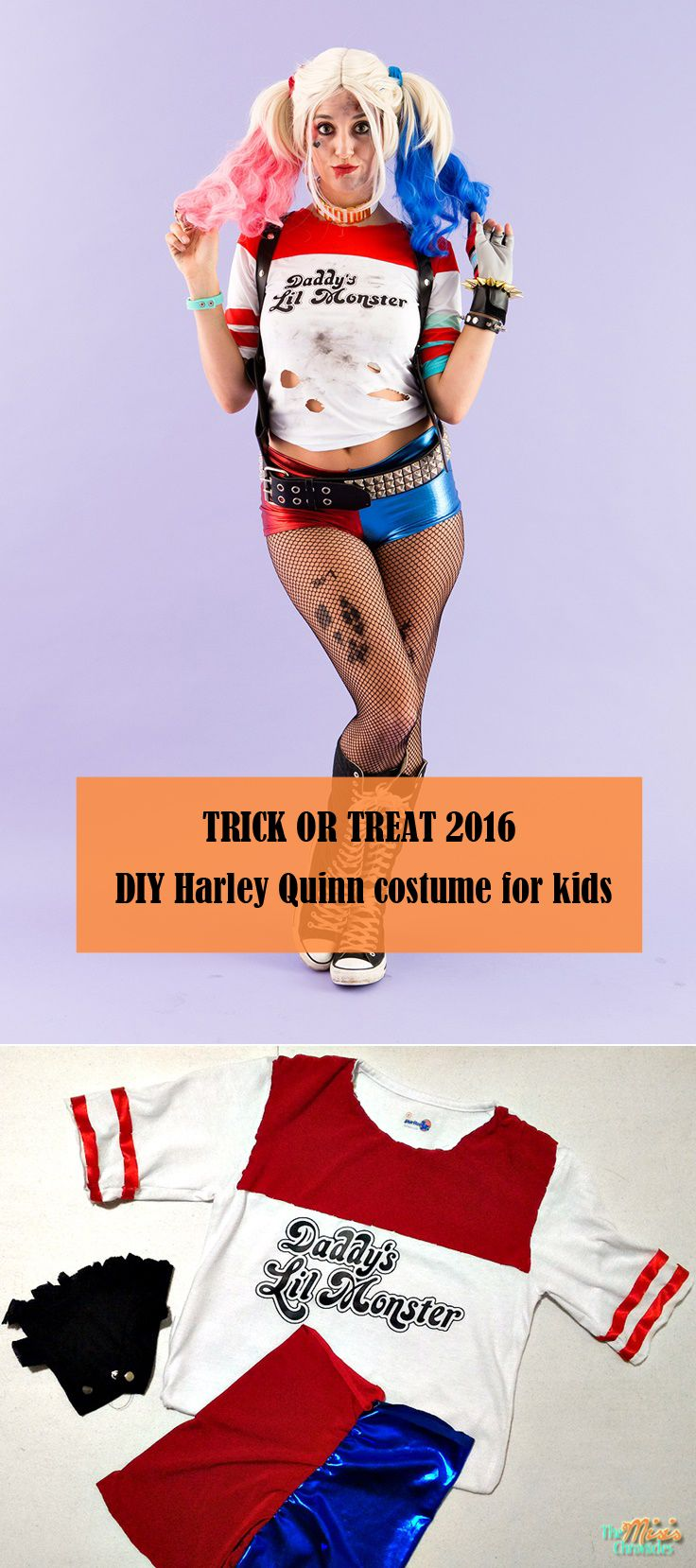 Here's how to DIY a Harley Quinn costume for your kids this Halloween 2016.