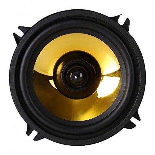 Altavoces para coche con membrana dorada y chasis de color negro. Alta tecnología con 1000W de potencia. Ideal para aplicaciones de tuneo y de coches de exposición. Los Auna Goldblaster 5 son un par de llamativos altavoces paracoche de 13cm (5″) que impresionan a nivel tanto estética co... http://altavocespara.com/coche/auna/auna-goldblaster-5-altavoces-para-coche-de-1-via-neodimio-100-20000-hz/