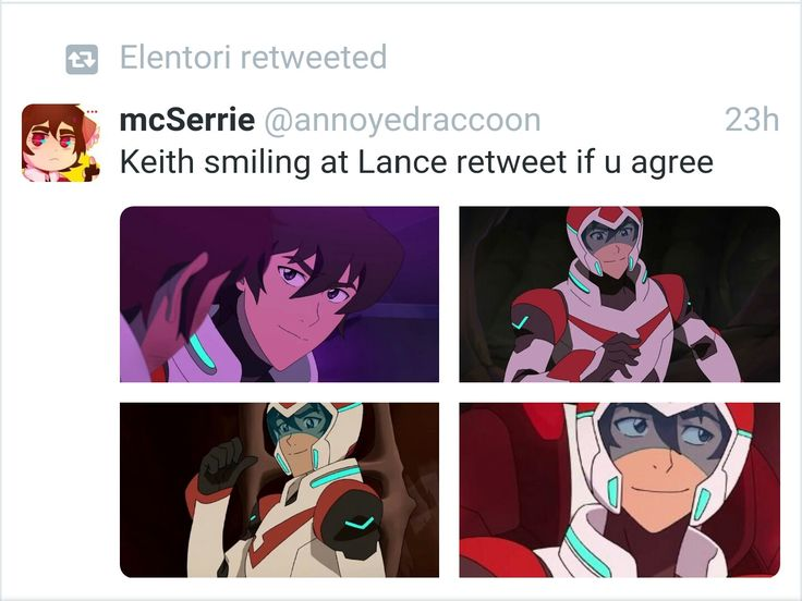 Ever single time he smiles at Lance, is the cutest thing ever!
