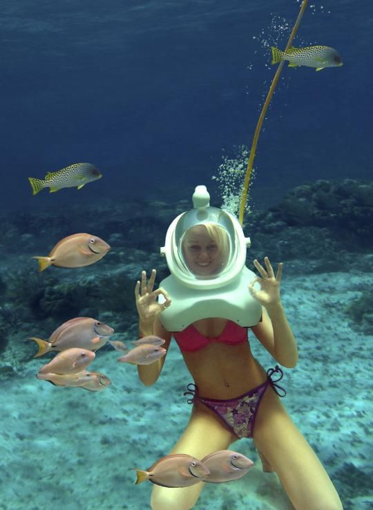 Wear an awesome deep-sea diver-esque helmet and get up close with the amazing sea life on the ocean floor in Punta Cana, Dominican Republic.