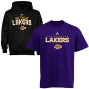adidas Los Angeles Lakers Youth Hoodie and T-Shirt Set - Purple/Black