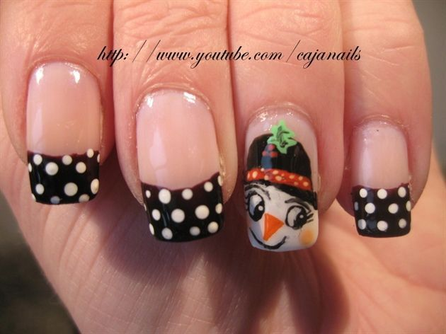 15 best nails images on pinterest nail scissors cute nails and snowgirl christmas winter nail art prinsesfo Images