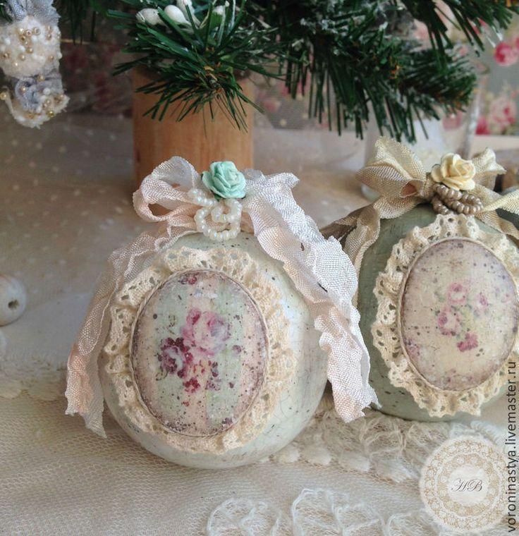 Купить Шарики Рококо - Декупаж, Новый Год, шар, новогодний шар, елочный шар, елка