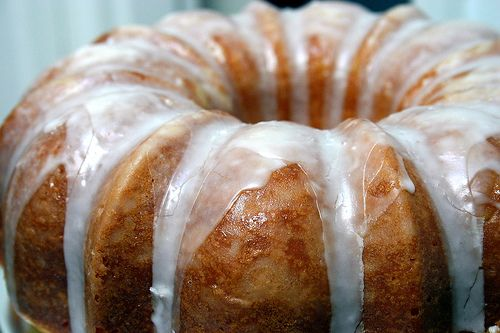 A glazed lemon bundt cake: a burst of lemony sunshine to lift one out of winter doldrums.