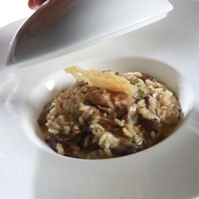 Ριζότο με μανιτάρια, θυμάρι και παρμεζάνα