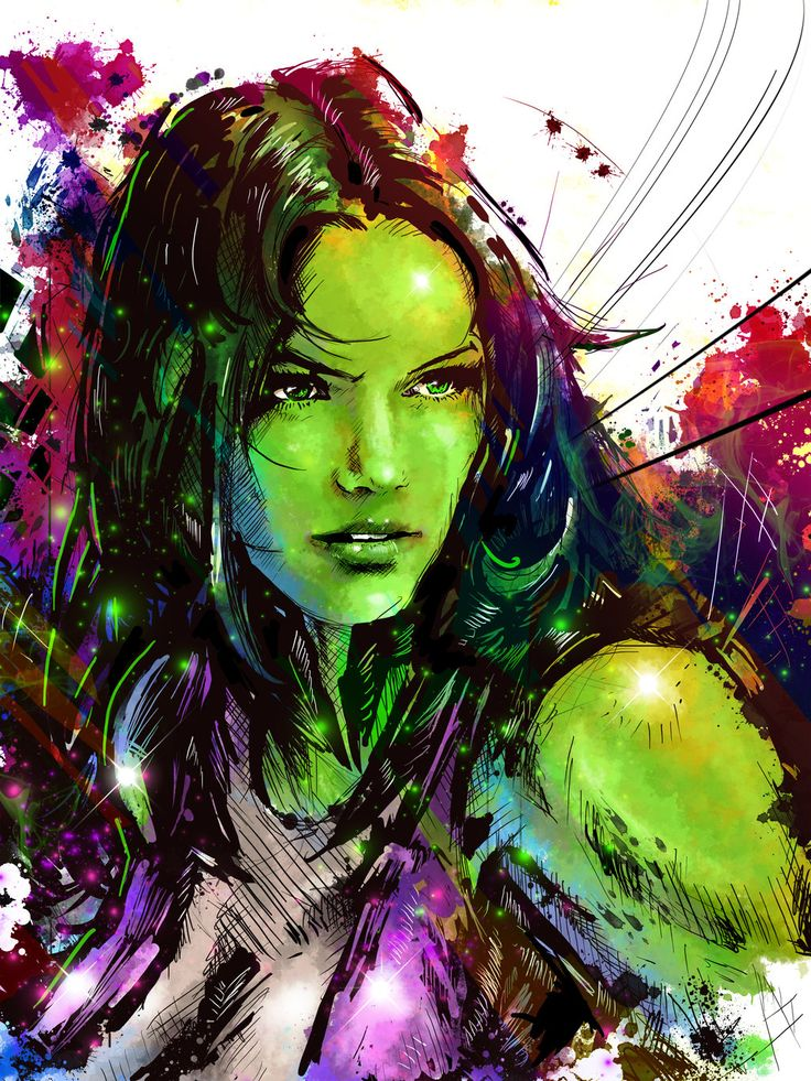 "She Hulk by ~VVernacatola on deviantART  ✮✮""Feel free to share on Pinterest"" ♥ღ www.UNOCOLLECTIBLES.COM"