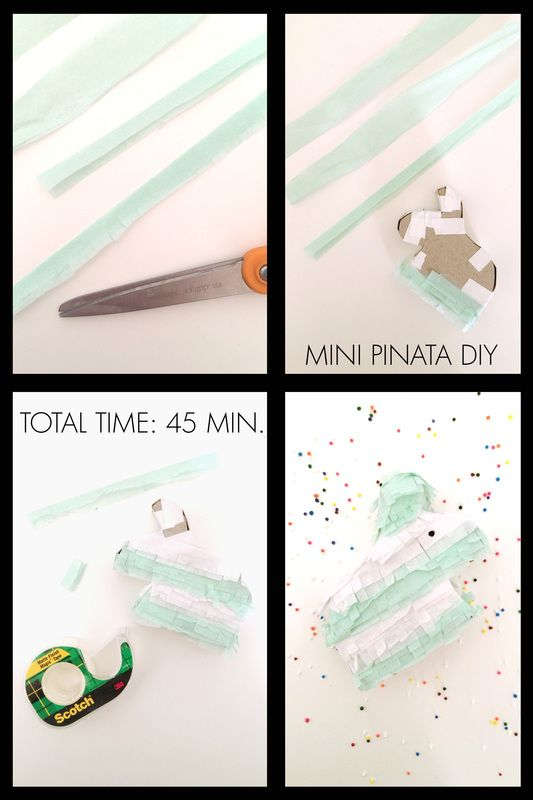 New DIY just went up this morning. Celebrate the weekend with these miniature pinatas!!