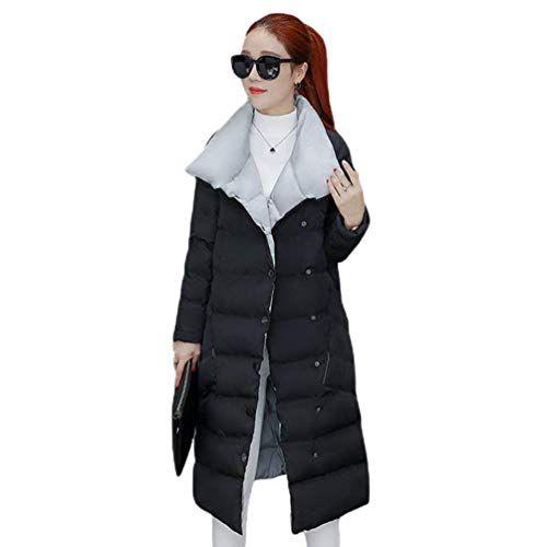 Betrothales Donna Piumino Lunga Giubotto Invernali Cappotti Manica Lunga  Collo Coreana Eleganti Addensare Calda Casuali Piumini f988fba07c9