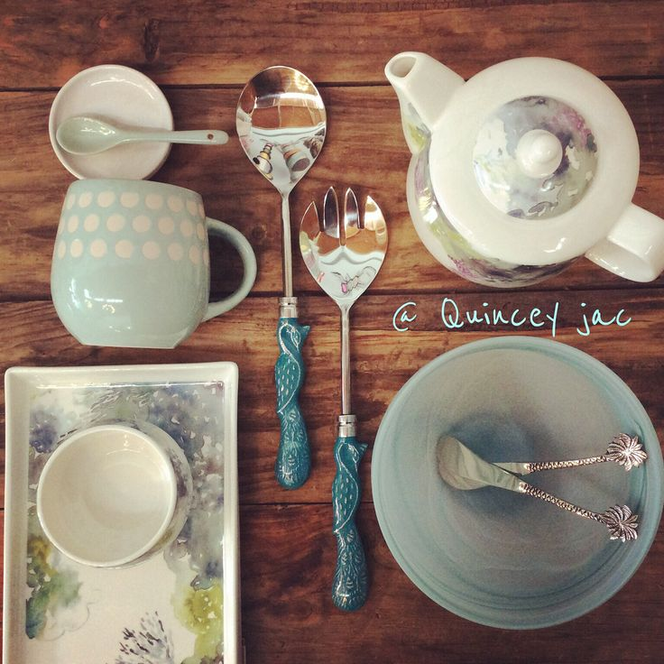 Mother's Day gift ideas #mothersday #mint #watercolor #teapot #mug #kitchen #gifts #quinceyjac