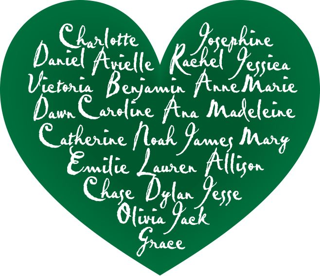 Loving thoughts and prayers go to all of Sandy Hook and all affected one year ago from today.