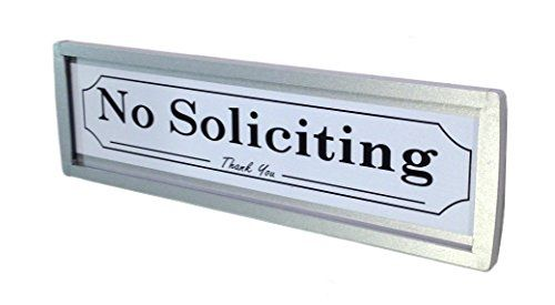 NEW  NO SOLICITING SIGN  EASY INSTALLATION Silver  For Private Property Sign For Home or Business  KEEP OUT SOLICITORS  No Soliciting Signs  Do Not Disturb Silver >>> More info could be found at the image url.