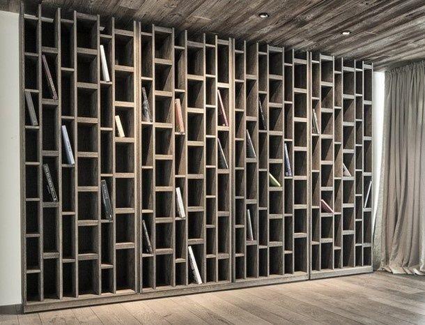 Inspiration pour la bibliothèque qui séparera la pièce