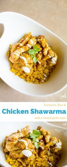 Try this easy recipe of Chicken Shawarma and Turmeric Rice! This meal even your kids can help cook. Enjoy this savory dish!