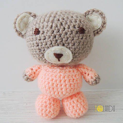 by.Veve / Háčkovaná hračka | Medvedík v dupačkách