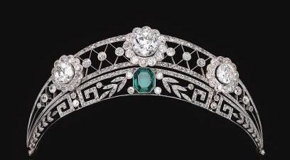 Emerald & Diamond tiara from Westphalian noble family