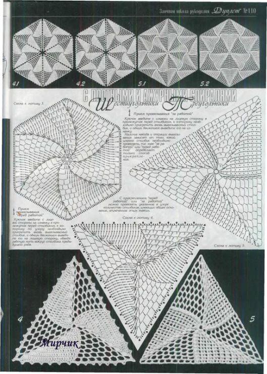 206 best triangle crochet + diagramme images on Pinterest | Irish ...