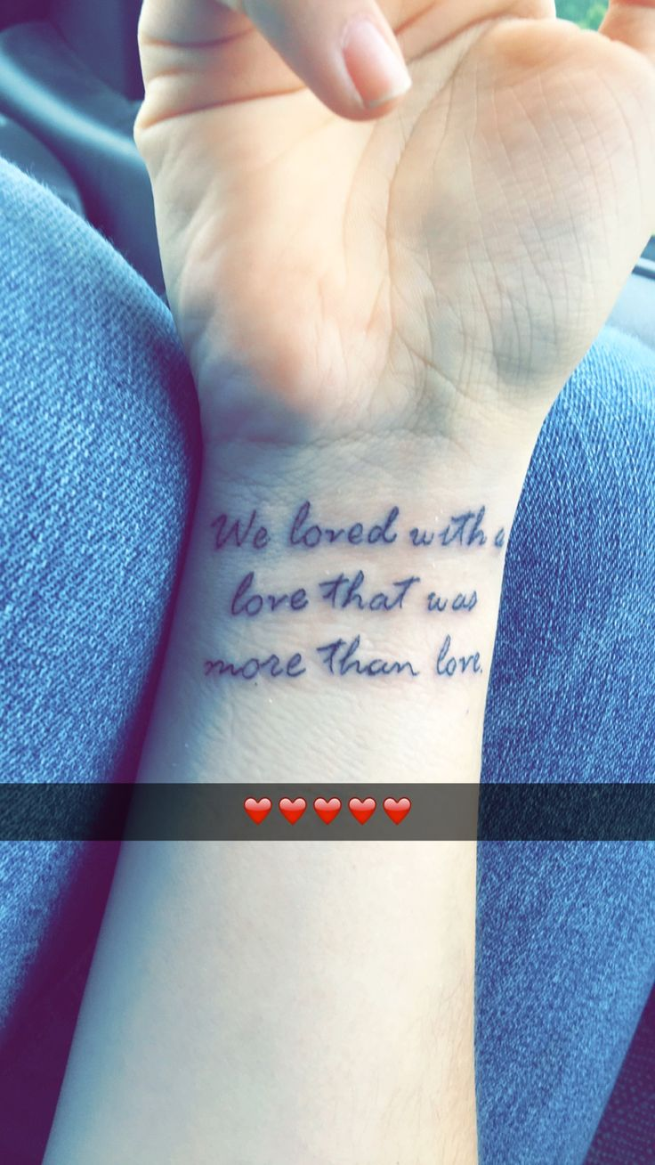 Annabelle lee poem ~ Tattoo Quote