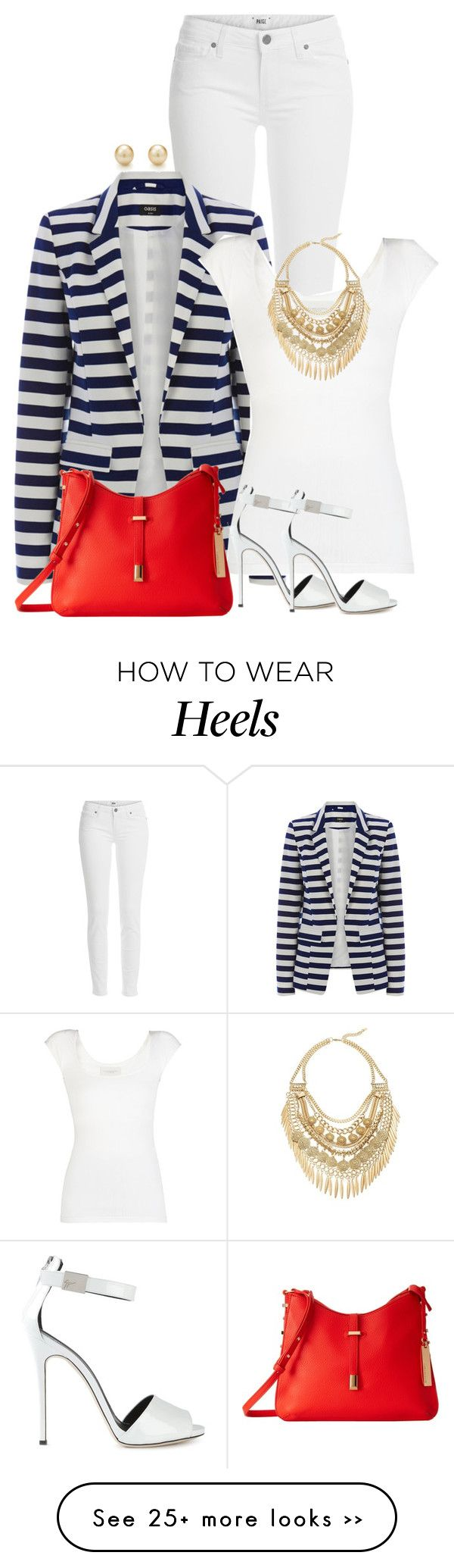 """Blazer, heels and jeans"" by ginga1203 on Polyvore"
