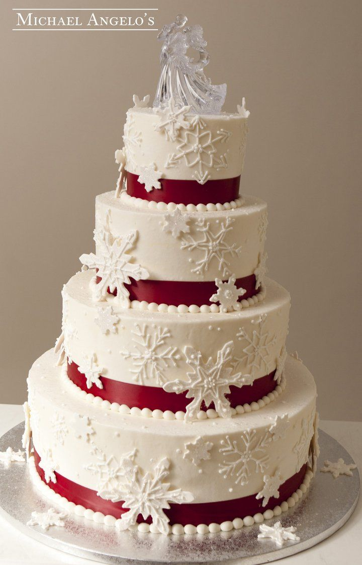 Shimmery Snowflake 15specialty Christmas Wedding Cakes Fall Wedding Cakes Red Velvet Wedding Cake