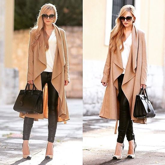 beige long cardigan look, What to wear in Thanks-giving day http://www.justtrendygirls.com/what-to-wear-in-thanks-giving-day/