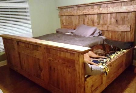 Queen Size Bed With Dog Bed Attached