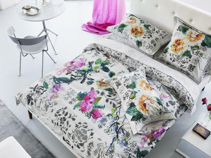 DESIGNERS GUILD Bettwäsche MAJOLICA SLATE // bedlinen Majolica by Designers Guild // Luxusbettwäsche von Markenherstellern // Online-Shop für hochwertige Wohntextilien // Schlaf und Raum - einfach schöner