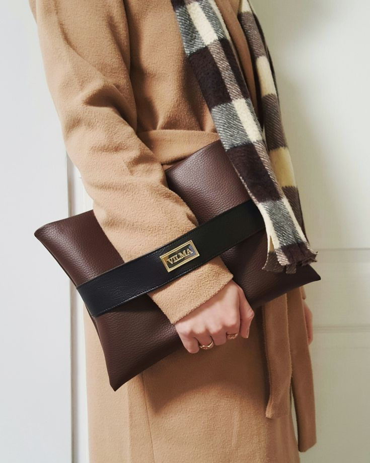 Shades of brown. Treat yourself with classy, minimalist vegan clutch bag. Shop at http://vilmaboutique.com .
