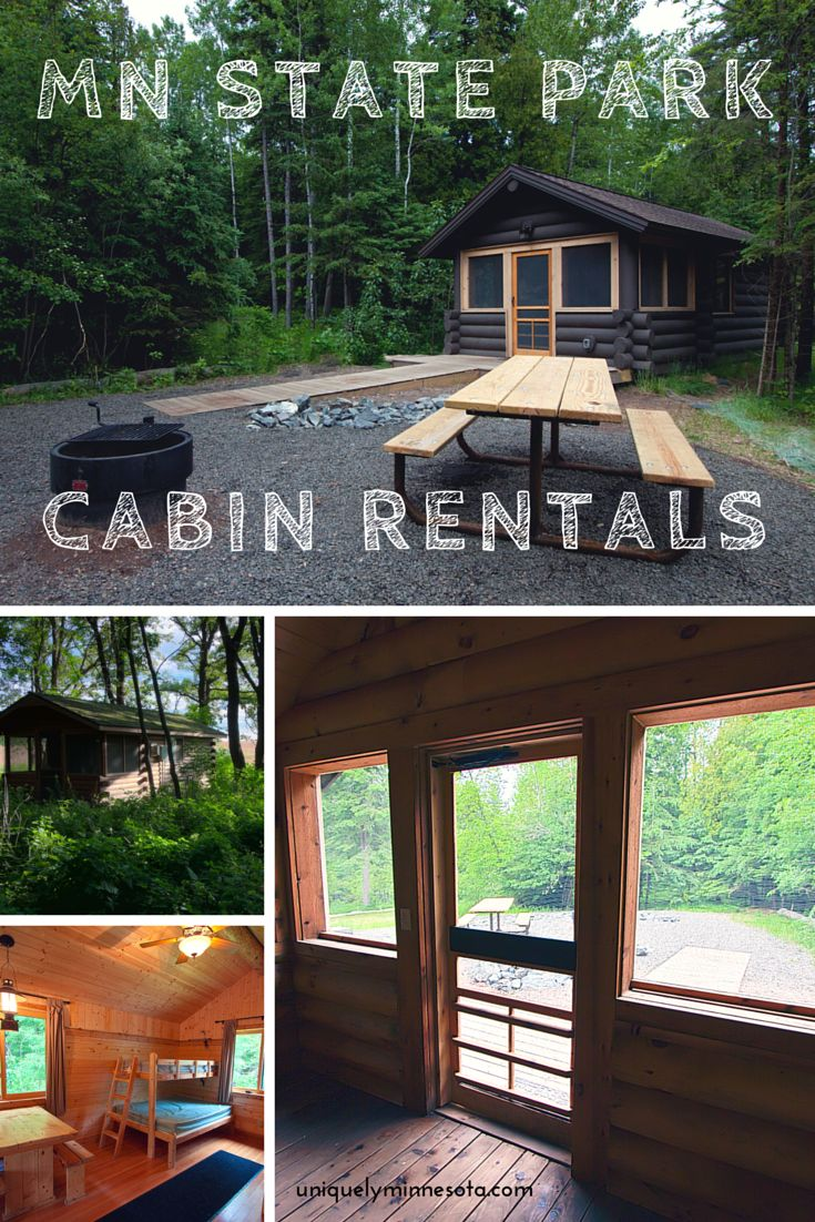Dozens of Minnesota State Parks across the state offer camper cabin rentals. Cabins include beds, dining tables, screen porches, fire pits and picnic tables, and many have electricity.