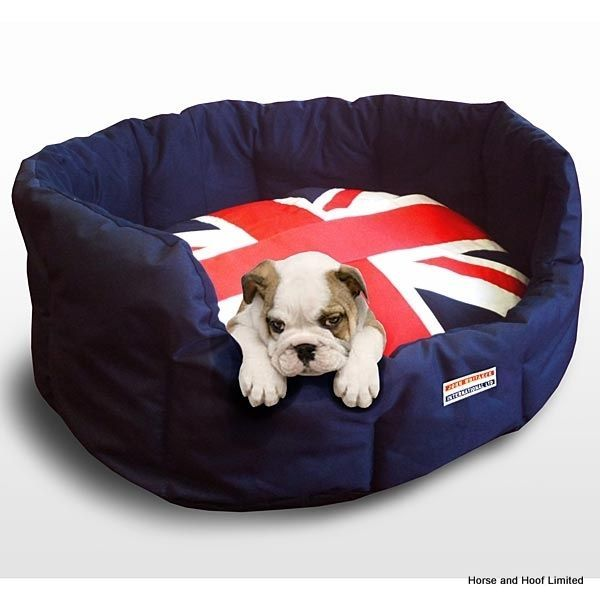 John Whitaker Union Jack Dog Bed This Comfy Union Jack Print Dog Bed Is Made From 600D Water Repellent Polyester Material Ideal For Your Messy Pup.