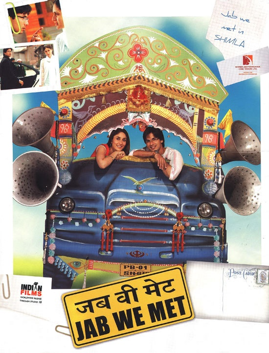 Jab We Met is probably one of my favorite movies of all time.  GREAT intro to Bollywood!! (The last time I checked it's on Netflix) :).<3 <3 <3 <3 <3
