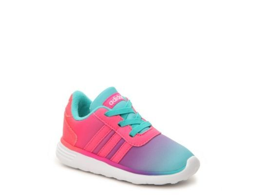Women's adidas NEO Lite Racer Girls Infant & Toddler Slip-On Sneaker - Pink/