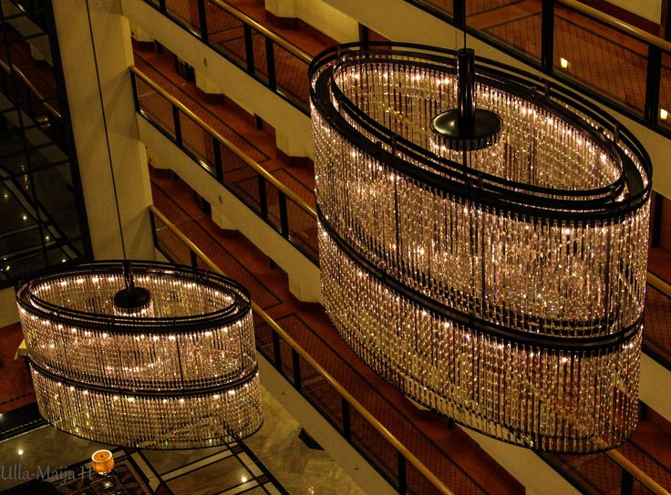 Beautiful Swarovski crystal chandelier. Hotel Maritim, Dresden