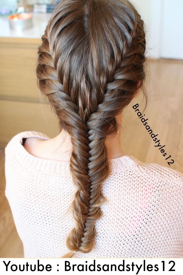 Merged French Fishtail Braids by Braidsandstyles12. DIY Braid Tutorials, Braided styles . Check out my Youtube Channel : https://www.youtube.com/user/Dmmr1000/videos
