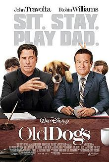 Old Dogs //  Directed by	Walt Becker  Produced by	Andrew Panay  Peter Abrams  Robert Levy  Written by	David Diamond  David Weissman  Starring	Robin Williams  John Travolta  Kelly Preston  Seth Green  Lori Loughlin  Bernie Mac  Matt Dillon  Music by	John Debney  Cinematography	Jeffrey L. Kimball  Editing by	Ryan Folsey  Tom Lewis  Studio	Tapestry Films  Stoopid Monkey  Distributed by	Walt Disney Pictures  Release date(s)	  November 25, 2009
