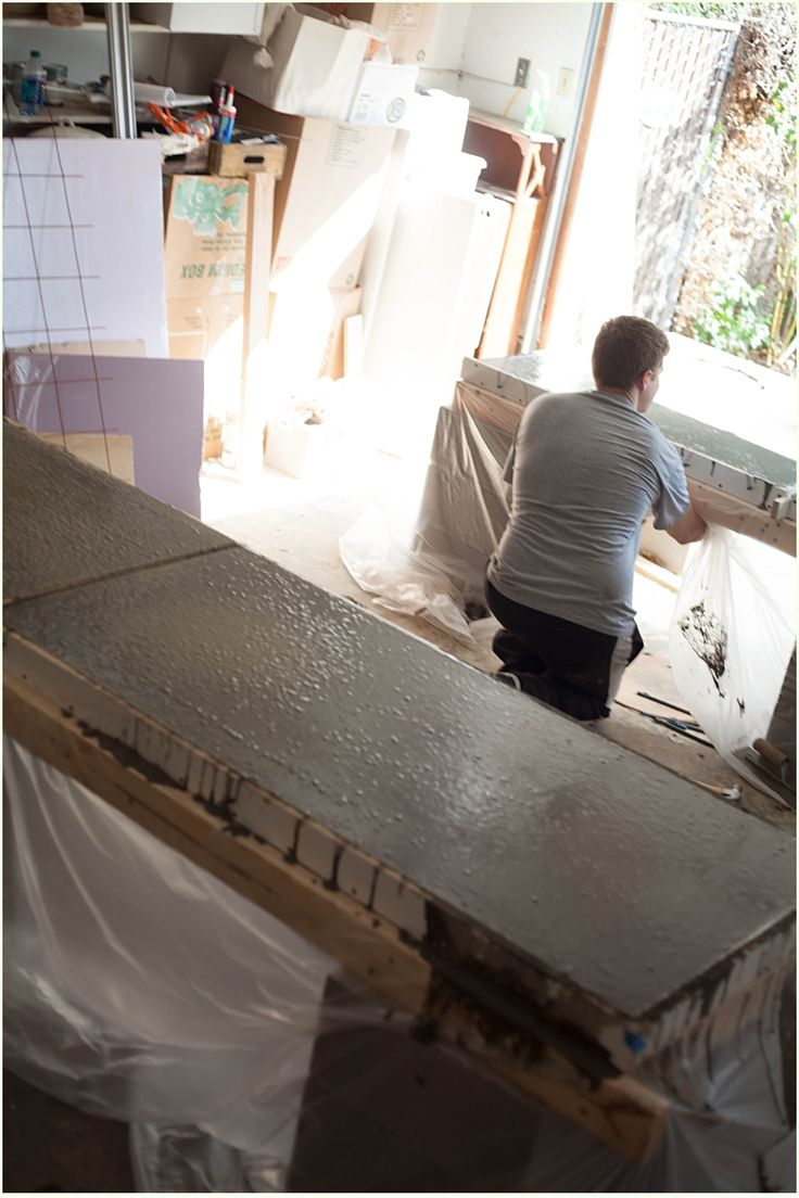 Concrete Countertop Over Laminate Best 25 Concrete Countertops Cost Ideas On Pinterest Wood