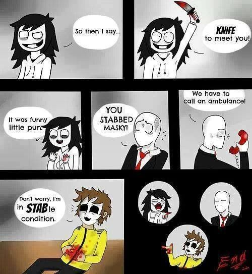 Slendy's face in the last pic. XD like -_-