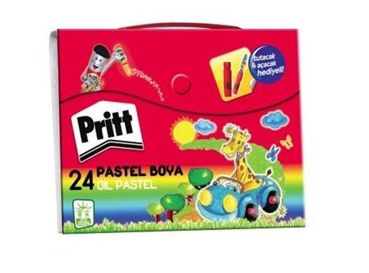 Pritt 24'lü Çantalı Pastel Boya Kalemi Seti 29,90 TL yerine, kdv dahil 14,99 TL