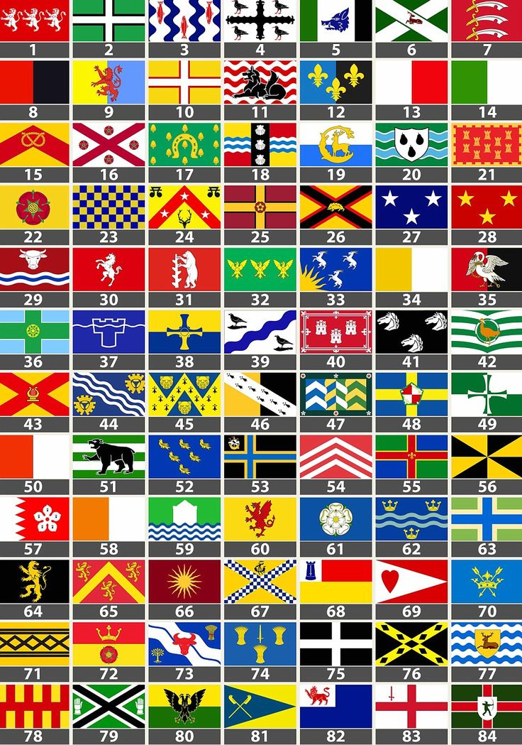 How many English county flags do you recognise? Put yourself to the test here