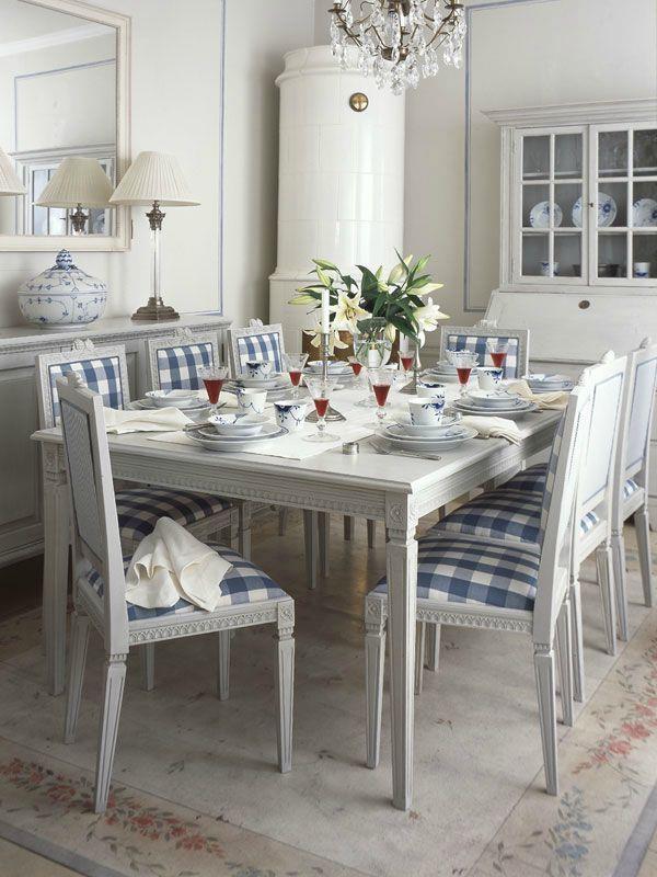 blue white Swedish style