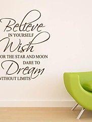 JiuBai™ Inspiration Quote Wall Sticker Wall Dec... – AUD $ 28.59
